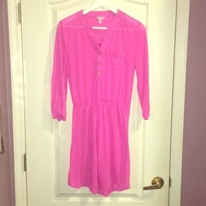 Lilly Pulitzer bright pink dress